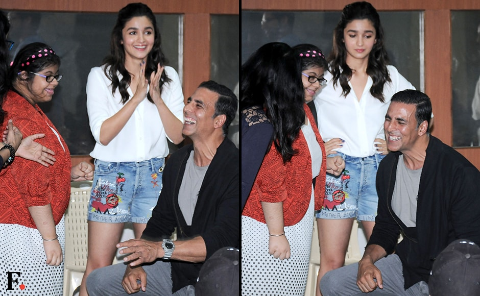 What's so funny Akshay? — Alia Bhatt. Sachin Gokhale/Firstpost