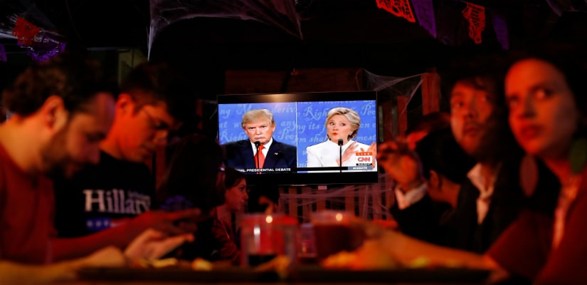 Donald Trump and Hillary Clinton are divided on the issue. AP