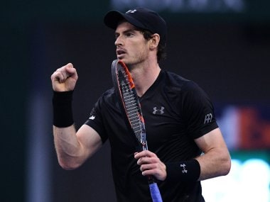Andy Murray reacts during a match at the Shanghai Masters. AFP