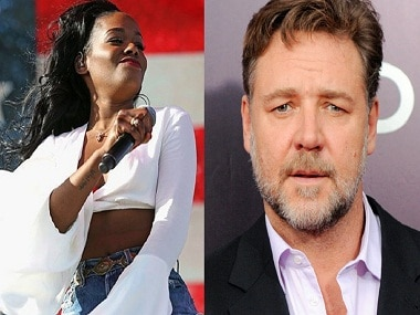 Azealia Banks (L); Russell Crowe. Images from AP