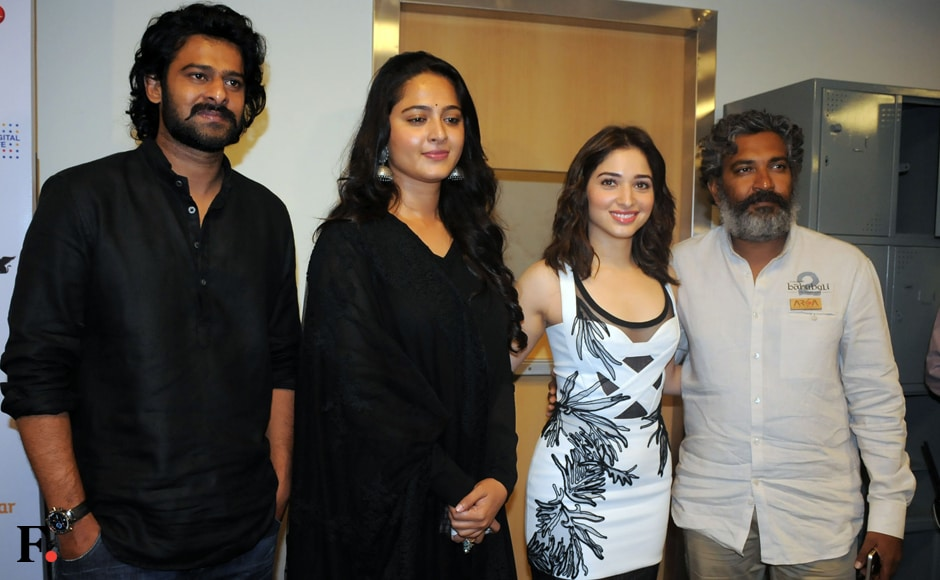 The motion poster of SS Rajamouli's 'Baahubali 2: The Conclusion' was unveiled on Saturday, 22 October, at the ongoing Jio MAMI 18th Mumbai Film Festival with Star. Image by Sachin Gokhale/Firstpost