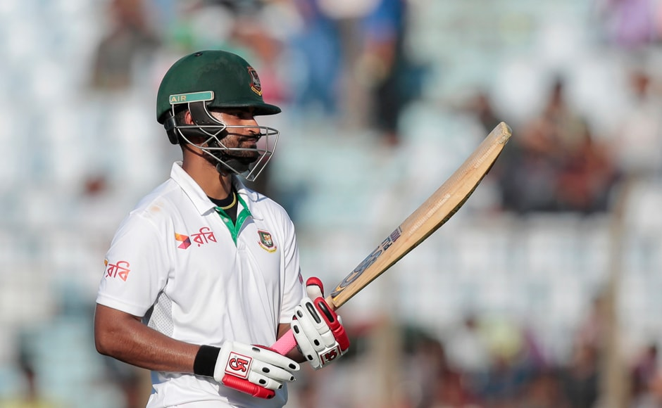 Day 2: Tamim Iqbal led from in host nation's first innings as he scored a mature 78 in Bangladesh's total of 248. AP