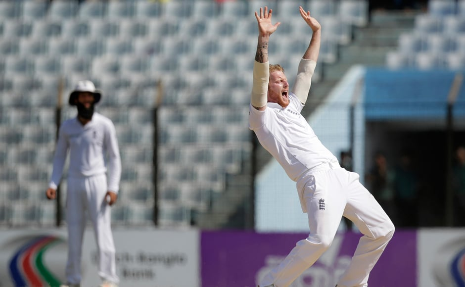 England's Ben Stokes starred with both bat and ball as England overcame the challenge Bangladesh put up in the first Test. AP