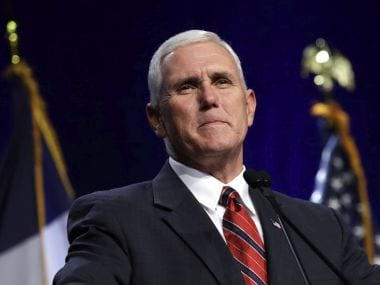 File photo of Republican vice presidential candidate Indiana Gov Mike Pence. AP