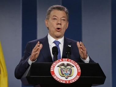 Colombia's President Juan Manuel Santos. AP