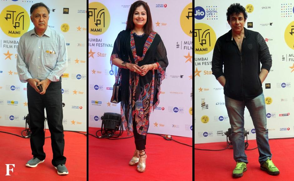 Director Mansoon Khan, Ayesha Jhulka and Deepak Tijori. Sachin Gokhale/Firstpost