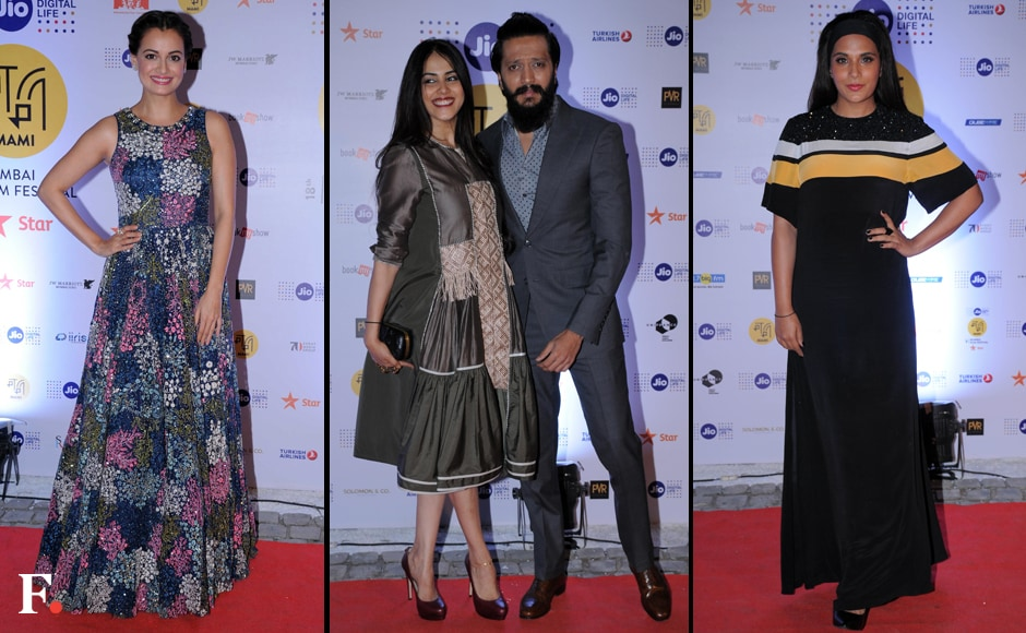 Dia Mirza, Genelia D'Souza with husband Riteish Deshmukh and Richa Chadda. Sachin Gokhale/Firstpost