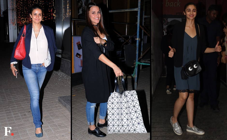 Filmmaker Karan Johar hosted a special screening of his upcoming film Ae Dil Hai Mushkil for the who's who of Bollywood. Gul Panag, Neha Dhupia and Alia Bhatt were spotted at the screening. Sachin Gokhale/Firstpost
