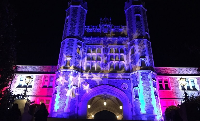 The University of Washinton in St Louis welcomed Donald Trump and Hillary Clinton on Sunday night. Firstpost/Saumya Pant