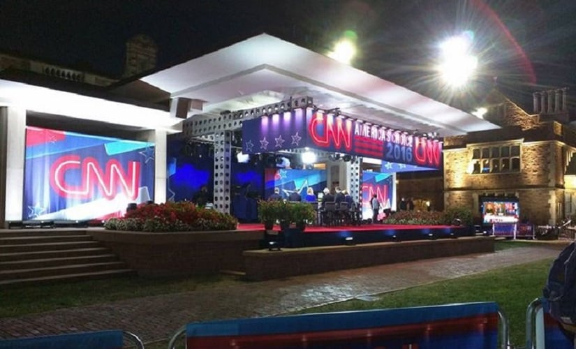The on-campus home of the CNN panel for the duration of the debate. Firstpost/Saumya Pant
