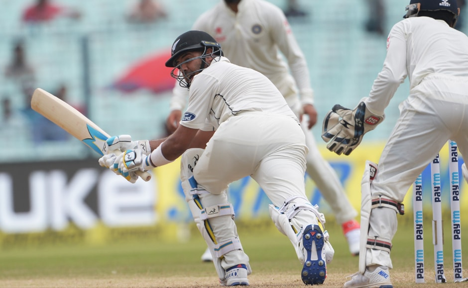New Zealand began the day placed precariously, but thanks to a run-a-ball knock of 47 by Jeetan Patel, they recovered well. AFP
