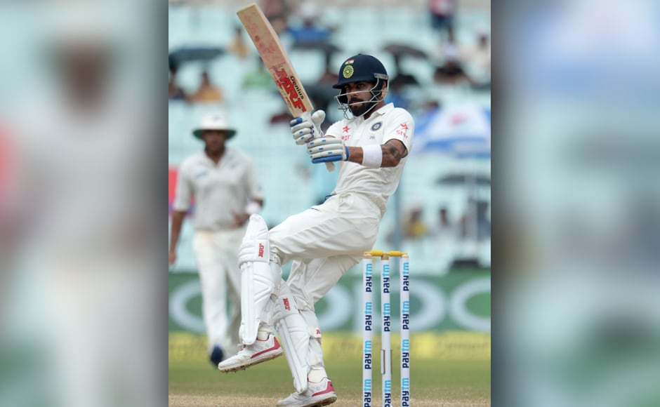 After New Zealand hit the hosts with four quick wickets, skipper Virat Kohli started the comeback with a counter-attacking 45 off just 65 balls. AFP