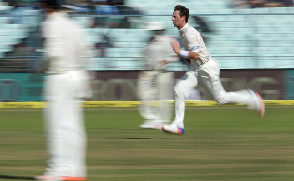Matt Henry was easily the best bowler for New Zealand on display, getting good bounce, holding it on a constant off-stump line and getting the ball to move disconcertingly away from the batsmen. AFP