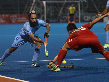 India were held to a draw after their thumping win over Japan. Image courtesy: Hockey India via Twitter.