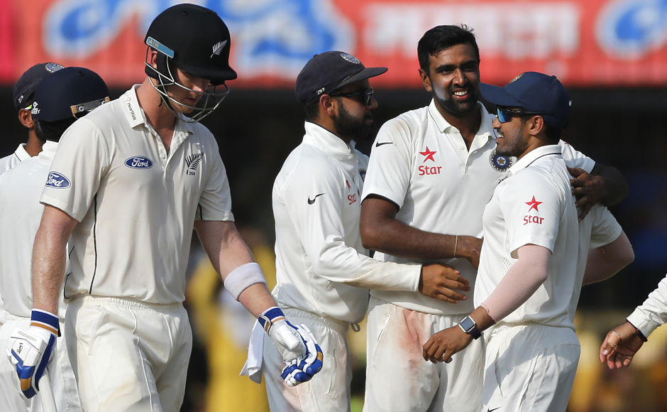 India's Ravichandran Ashwin ended the day with six wickets for 81. AP