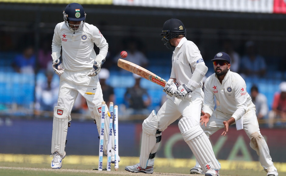 New Zealand captain Kane Williamson fell to India's Ravichandran Ashwin for the third time in the series. AP