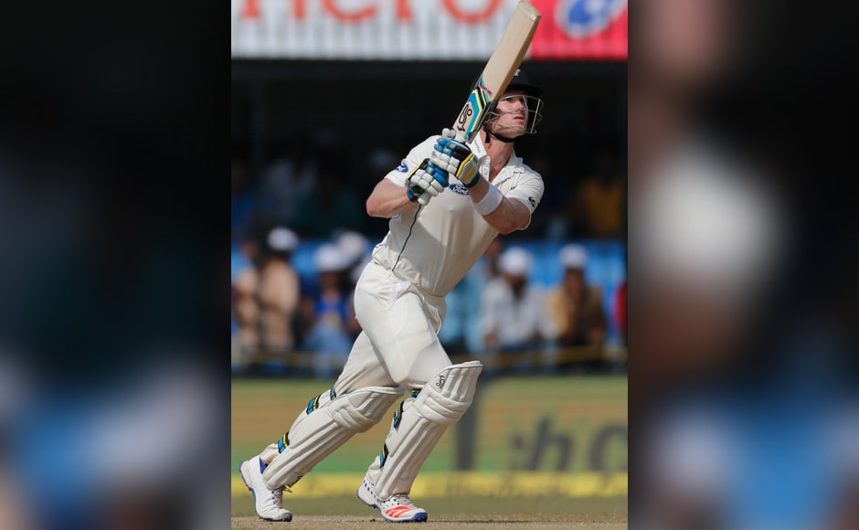 New Zealand's James Neesham made 71 in his first match of the tour against India at Indore. AP