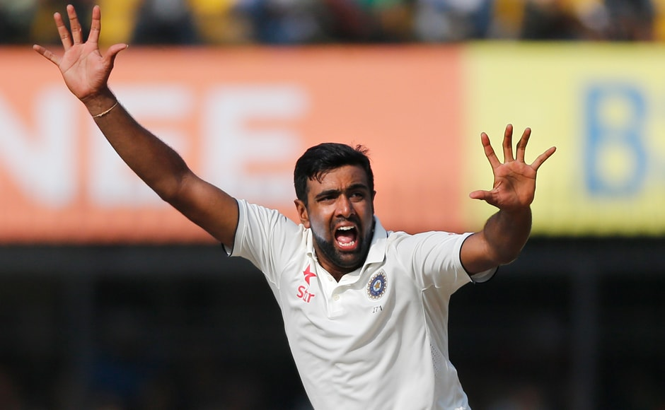 Ravichandran Ashwin put up yet another brilliant performance after his 20th five-wicket haul helped India dismiss New Zealand for 299. India's score at stumps was 18 for 0 with Murali Vijay and Cheteshwar Pujara at the crease. AP