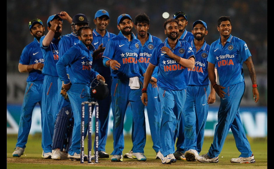Amit Mishra's five-wicket haul dismantled New Zealand as they got bowled out on 79. Leg-spinner Mishra was also named the man of the series. AP