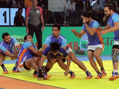 India in acton against Thailand in their semifinal match. Twitter/Star Sports