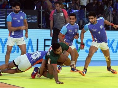 The Indian defense was on song against Bangladesh as they won 57-20 in the Kabaddi World Cup