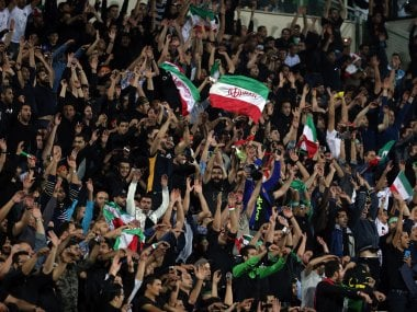 Iran's football supporters. AFP
