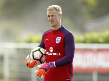 Joe Hart in training for England. Reuters