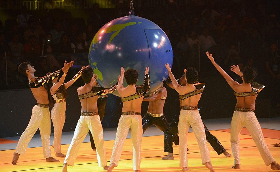 Indian artists perform during the inaugural ceremony of the 2016 Kabaddi World Cup in Ahmedabad. AFP