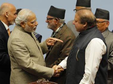 Prime Minister Narendra Modi with his Pakistani counterpart Nawaz Sharif. AFP