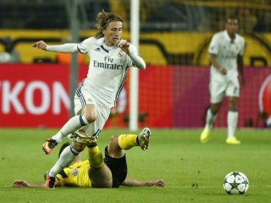 Modric has extended his Real contract till 2020. AFP