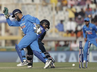 MS Dhoni was lightning quick behind the stumps in the third ODI. AP