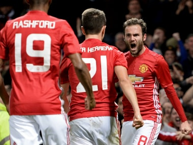 Juan Mata's strike sealed United's win over Manchester City. AFP