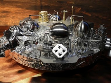 A full-size model of the European ExoMars entry, descent and landing module, Schiaparell is seen during a press conference at the European Space Agency (ESA) Headquarters in Darmstadt, Germany on 20 October, 2016. Reuters