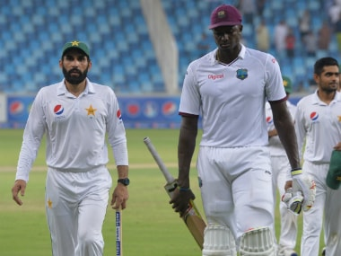 File image of Misbah-ul-Haq (L) and Jason Holder. AFP