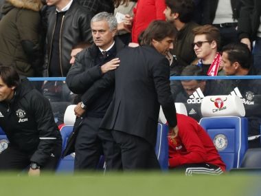 Chelsea manager Antonio Conte and Manchester United manager Jose Mourinho. Reuters
