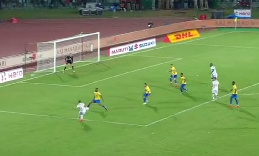 NEUFC's first chance came by exploiting width on the left flank