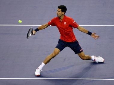 Novak Djokovic in action at the Shanghai Masters. Reuters
