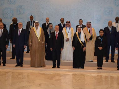 Foreign ministers at the OIC. Twitter  @OIC_OCI