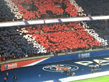 PSG's fans ahead of their clash against Marseille. Image credit: Twitter/PSG_officiel