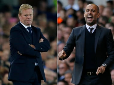 Pep Guardiola and ronald Koeman will face off for the first time in the Premier League. Reuters