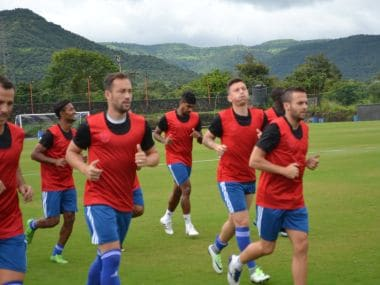 The FC Pune City players during practice. Image Credit: Official Facebook page