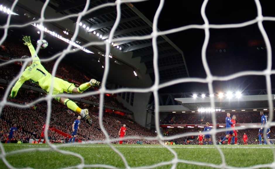 Manchester United's goalkeeper David De Gea produced excellent saves to deny Emre Can and Philippe Coutinho a goal in the second half as the clash against Liverpool ended in a 0-0 draw. Reuters