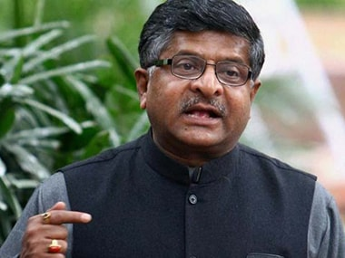 BJP leader and Union minister Ravi Shankar Prasad. PTI