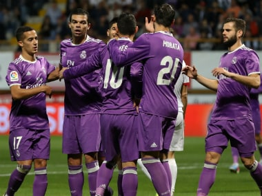 Real Madrid's thrilling victory ensured their progress in the Copa del Rey. AFP
