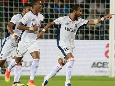 Richarlyson of FC Goa celebrates his goal against Mumbai City FC. ISL