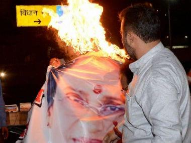 Congress workers were clearly not happy with Rita Bahuguna Joshi. PTI