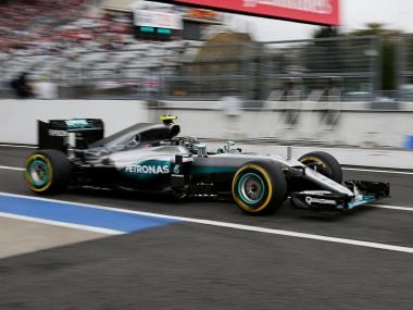 Mercedes' Nico Rosberg in action during the third practice. Reuters