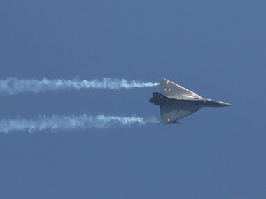 "An Indian Air Force (IAF) light combat aircraft ""Tejas"" performs during the Indian Air Force Day celebrations at the Hindon Air Force Station on the outskirts of New Delhi on 8 October. Reuters"