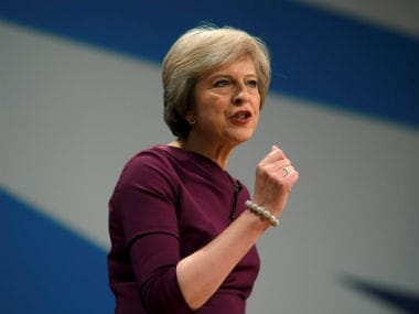 File image of UK Prime Minister Theresa May. Reuters
