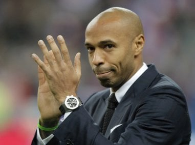 File photo of former France's footbll player Thierry Henry. AP